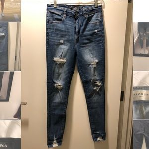 American Eagle highest rise jetting distressed